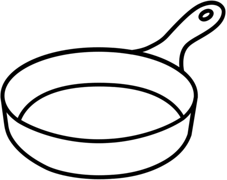 Generic line drawing of a frying pan